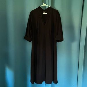 Eshatki black knit midi dress. 2x/22w